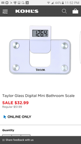 Taylor glass digital mini bath scale new in Joliet, Illinois