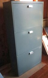 LATERAL FILE CABINET WITH  3 Receding Door Front Drawers in Cherry Point, North Carolina