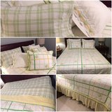 ~~~~Pottery Barn queen/full bedding, quilt, shams, bed skirt, sheets in Aurora, Illinois