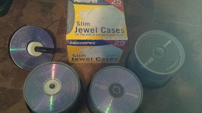 Lot of blank cds, & cd covers in Beaufort, South Carolina