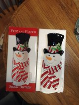 Fitz & Floyd Snack Therapy Snowman Tray in Chicago, Illinois