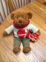 2002 Hallmark Teddy Mittens Stuffed Bear, commerate 100th Anniversary of the Teddy Bear in Chicago, Illinois