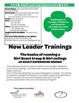 Girl Scout Leader Training for Otero County- Start your own troop! in Alamogordo, New Mexico