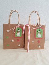 SALE - 3 Small Christmas Gift- Favor Bags Handmade in Ramstein, Germany