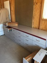 Heavy Duty dresser/cabinet/desk with roller bearing drawers!! in Yucca Valley, California