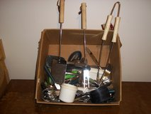 Box of Kitchen Utensils and Flatware in Fort Campbell, Kentucky