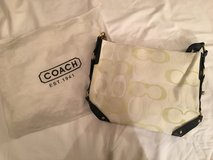 Used cream coach purse like new with bag in Joliet, Illinois