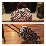Girls Rolling Zebra Luggage in Bolingbrook, Illinois