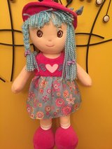 "Senario RAG CLOTH DOLL Blue Pigtails Yarn hair  16"" Plush Toy in Chicago, Illinois"