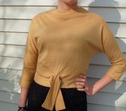 Vintage Sweater Gold Buttons up the Back Size 6/8 in DeKalb, Illinois
