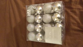 Silver Christmas Ornaments in Naperville, Illinois