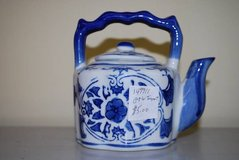 Blue and White Floral Teapot in Macon, Georgia