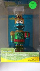 Cookie monster ornament Kurt Adler Christmas BRAND NEW in Bolingbrook, Illinois