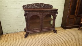 Highly Carved Display Cabinet free delivery in Lakenheath, UK