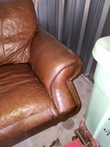 Leather sofa, chair and ottoman in Camp Lejeune, North Carolina