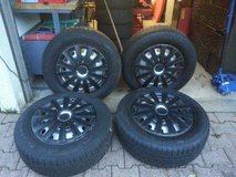 (4) 235/65 R17 108h TIRES + RIMS + HUBCAPS in Ramstein, Germany
