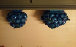 2 lg  blue grape serving bowls with lids in bookoo, US