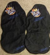 E Hardy King Bulldog Car Seat Covers - Mean Pack Leader Dog-LIKE NEW - $25 in Hemet, California