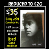 BILLY JOEL - 4 CD Box Set w/Book - USED ONCE in Kankakee, Illinois