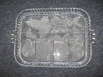 Etched Fruit Design Relish Tray in Warner Robins, Georgia