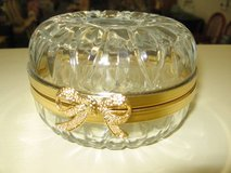 Gold and Glass Trinket Box in Perry, Georgia