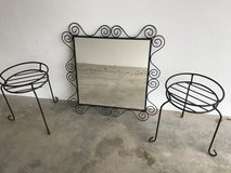 Mirror with 2 Flowerstands in Baumholder, GE