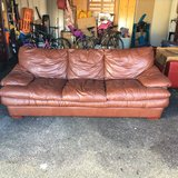 Leather couch (brown) Birkline in Ramstein, Germany