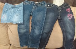 Girls size 4 jeans and 4T skirt in Okinawa, Japan