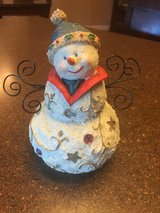 Christmas Snowman decoration in Leesville, Louisiana
