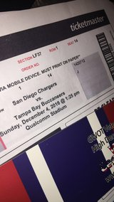 Charger vs buccs tickets in Fort Irwin, California