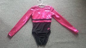 GK brand Sparkly Pink and Black Leotard Sz Child Large in Westmont, Illinois