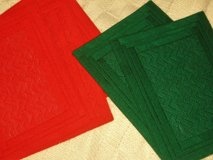 5 red/green placemats in Houston, Texas
