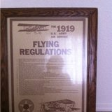 U.S. Army 1919 flying regulations poster in Alamogordo, New Mexico