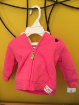 Brand New Carters pink hooded jacket for baby girls sz 3m in Morris, Illinois