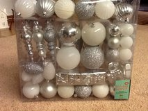 Silver/white ornaments in Ramstein, Germany