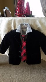 Christmas holiday blazer outfit in Bolingbrook, Illinois