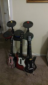 PS3 Rock Band, Guitar Hero, Singstar and 2 controllers in Valdosta, Georgia