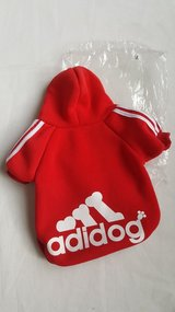 Nip Adidog red/pink hood sweater size L in Morris, Illinois