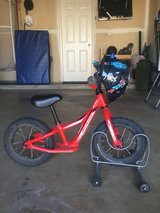 Specialized Hot Walk push bike w helmet and stand! in San Clemente, California