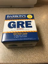 GRE prep flash cards and GRE Book in Camp Lejeune, North Carolina