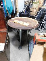 Awesome Cast iron tall paw footed table in Westmont, Illinois