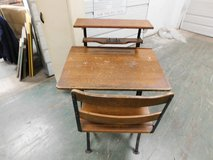 Antique Child Adult Student desk with chair in Chicago, Illinois