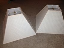 2 Cream Colored Lampshades in Shorewood, Illinois