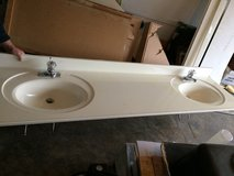 "84"" marble double sink vanity top with faucets in Fort Leonard Wood, Missouri"