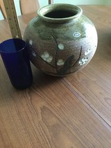 "8.5"" tall PRETTY FLOWERS  POTTERY VASE -  USED FROM OKINAWA in Okinawa, Japan"