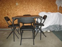 Folding Table and 4 folding chairs. in Fort Leonard Wood, Missouri