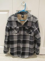 Boys' sherpa-lined flannel shirt jackets in Naperville, Illinois