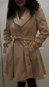 New ladies camel colored coat Large in DeKalb, Illinois