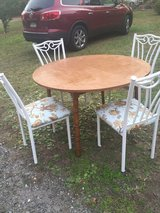 Table with 4 chairs---REDUCED TO $65 in Hinesville, Georgia
