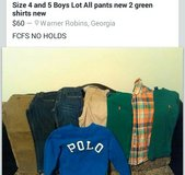 Boys Clothes Size 4 and 5 in Perry, Georgia